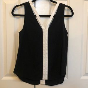 Trouve Black and White Blouse